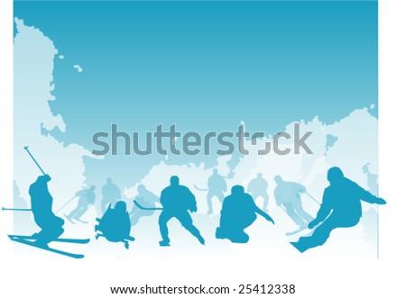 Background illustration for winter sports