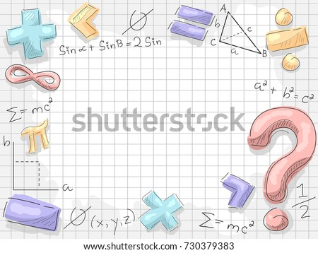 Background Illustration of Math Symbols and Formulas