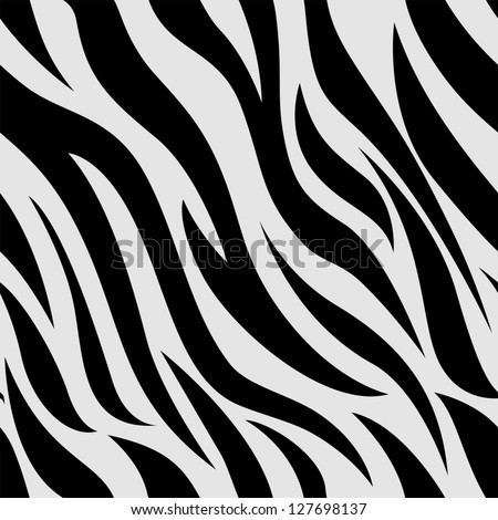 Background Illustration of Zebra Animal Print