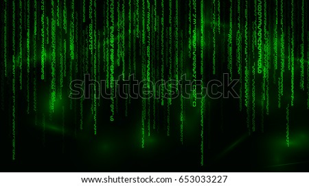 background in a matrix style
