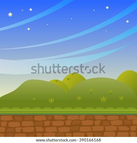 background in cartoon style