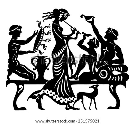 Background in the Greek style