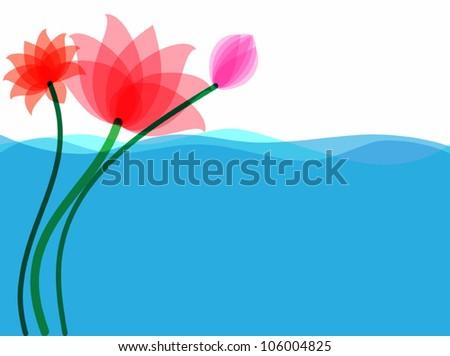 Background lotus bloom