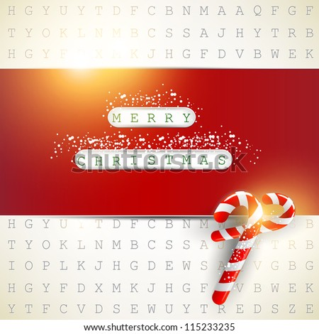 "Background made from letters with highlighted keywords ""Merry Christmas"""