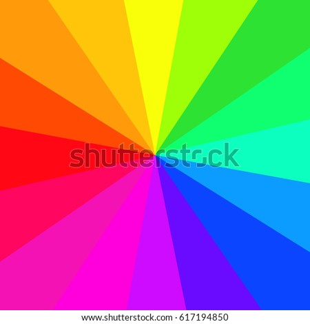 Background made of circular rainbow (spectrum) gradient