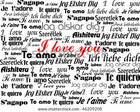 Love Words Picture on Background Made Up Of The Words  I Love You  In Different Languages