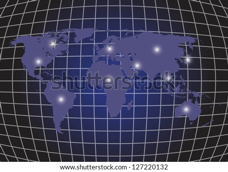 Background map of the world