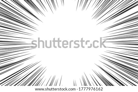 Background material: Illustration of a simple dense concentration line Photo stock ©