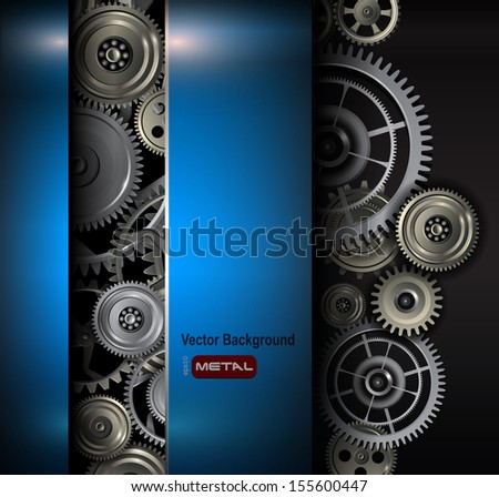 background metallic gears and