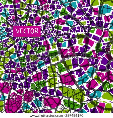 background mosaic of small pieces Vector
