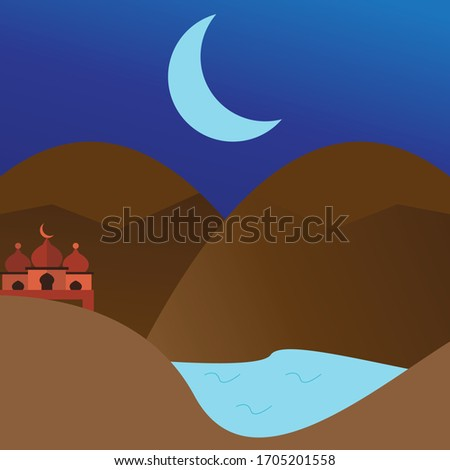 background mosque between the