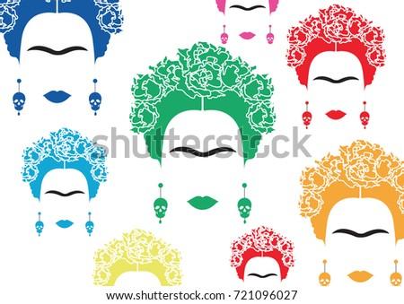 background multicolors portrait