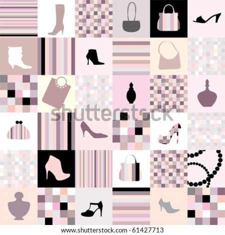 background of accessories, squares