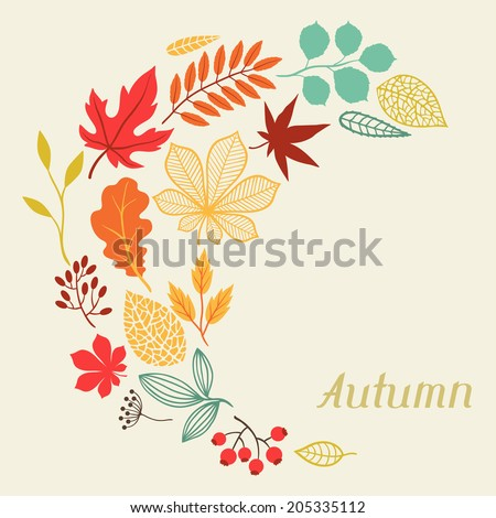 background of autumn leaves in
