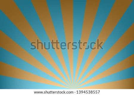 background of blue and yellow stripes,glowing glows,like light from the sun