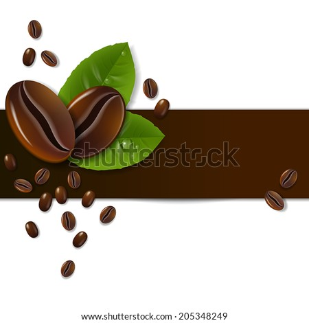 background of coffee beans with