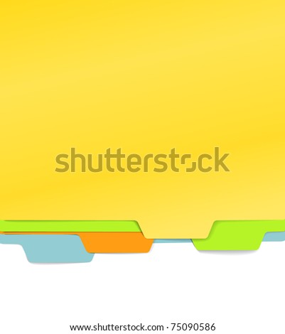 Background of color paper folders