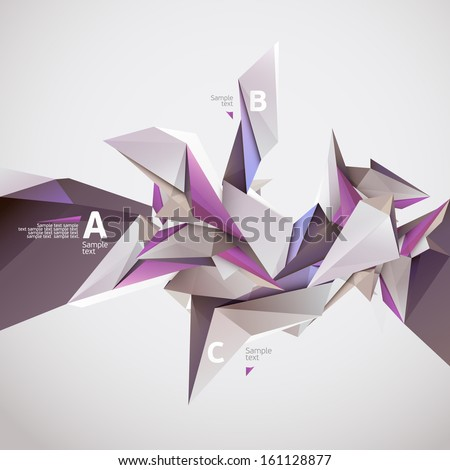 Background of 3D geometric shapes