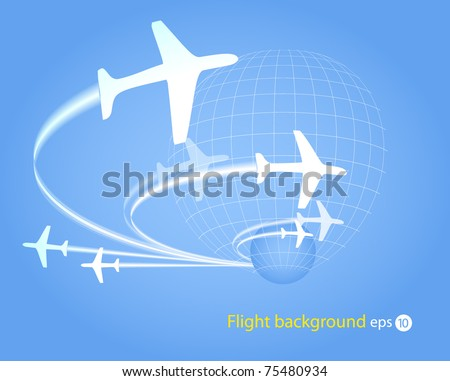 Background of flying planes