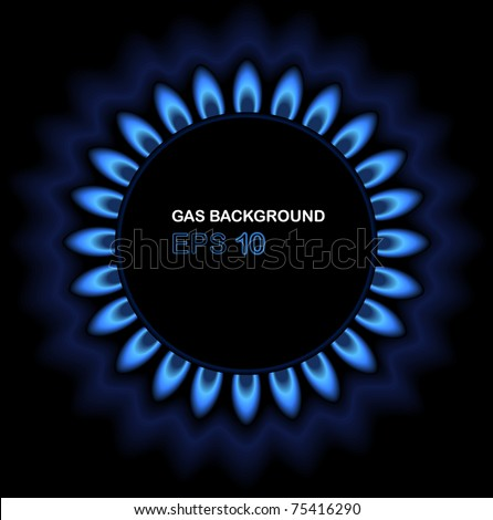 Background of gas flame on black stock photo