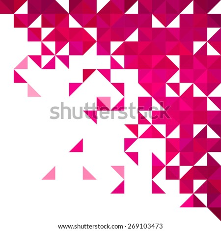 Background of geometric shapes. Colorful mosaic pattern. Retro triangle corner background