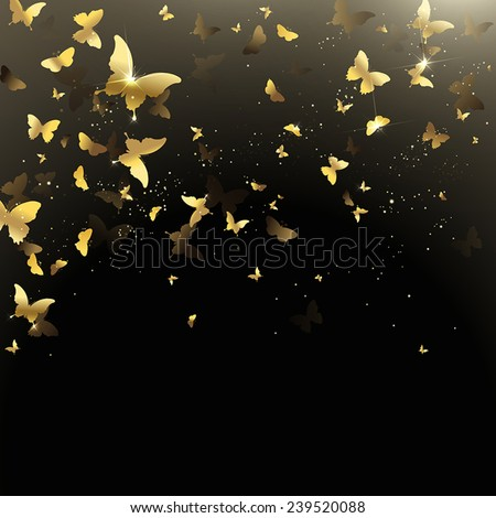 background of golden confetti