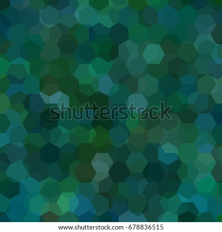 Background of green, blue geometric shapes. Mosaic pattern. Vector EPS 10. Vector illustration - Shutterstock ID 678836515