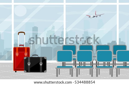 background of hall at airport