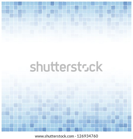 Background of little irregular blue tiles with white center fade