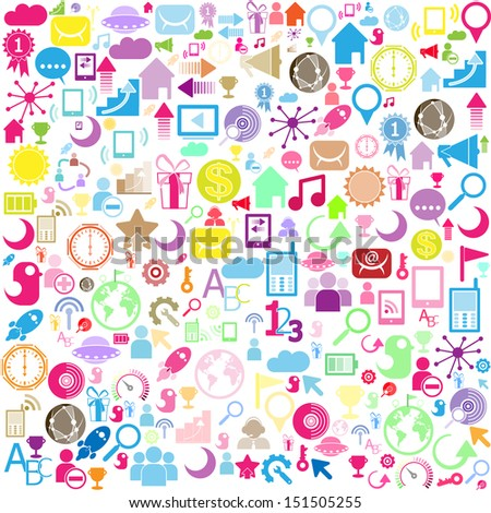 background of network icons - vector icons