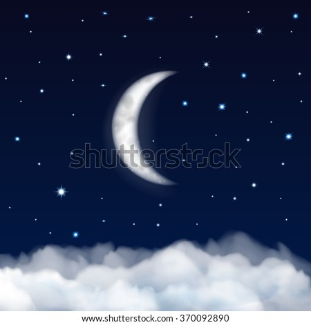 background of night sky with