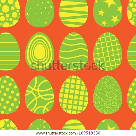 Background of seamless easter egg pattern.