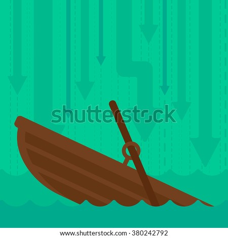 background of sinking boat and