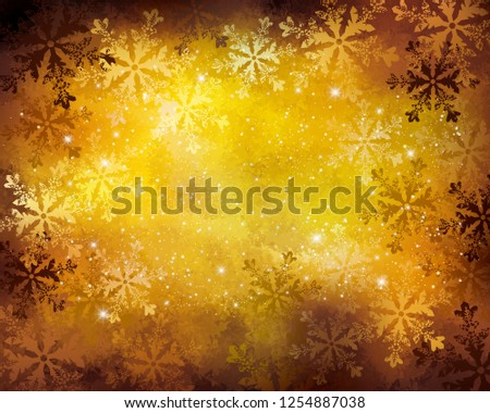 background of snow crystals - Shutterstock ID 1254887038