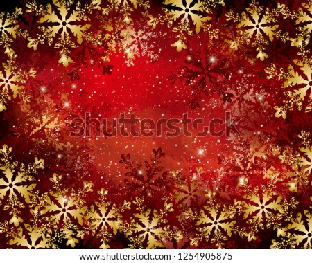 background of snow crystals - Shutterstock ID 1254905875