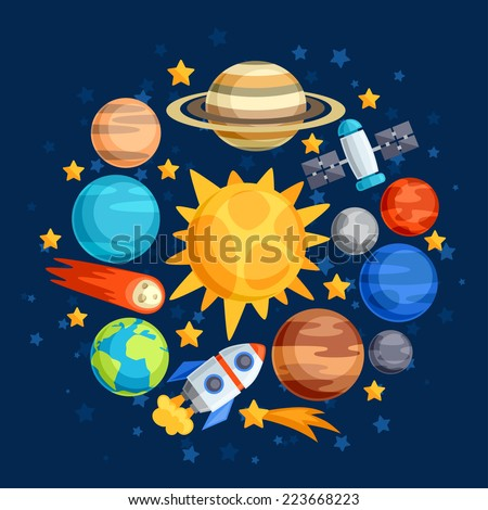 background of solar system