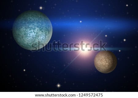 background of space with two