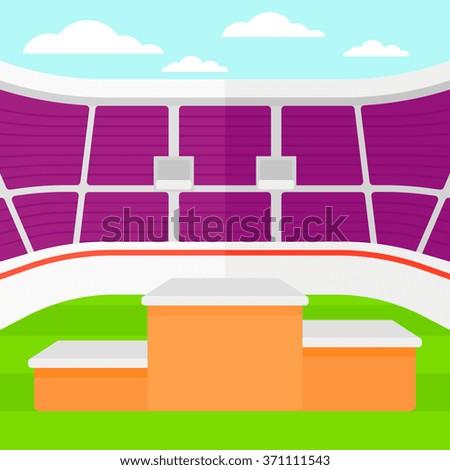 background of stadium with