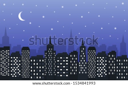 background of the night city