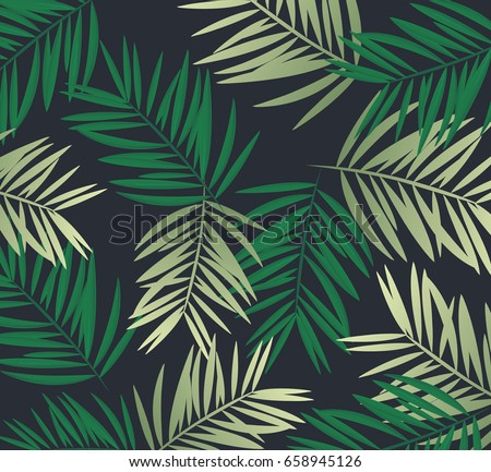 Background palm coconut bamboo tree leaf nature background,banner voucher, spring summer tropical, vector illustration