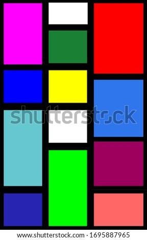 Background pattern color paper art