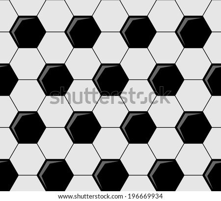 Superior Background Pattern Of Soccer Ball Repeat Black And White Pentagons