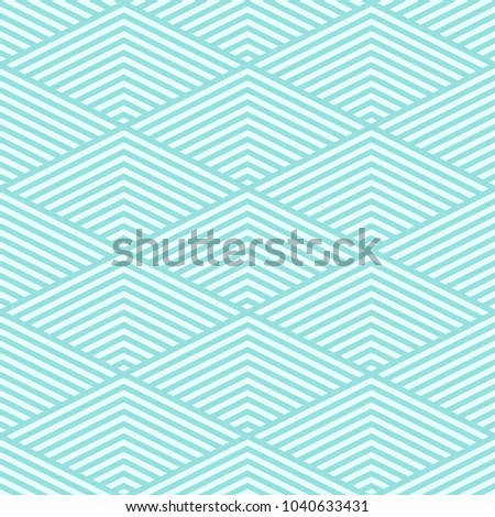 Background pattern stripe seamless vector texture green aqua pastel two tone colors. Wallpaper backdrop chevron striped abstract retro styled. Graphic design geometric shape.