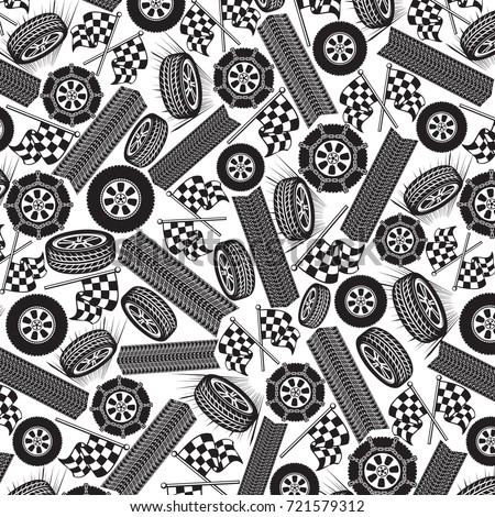background pattern with tires