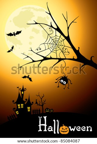 Background - postcard for Halloween