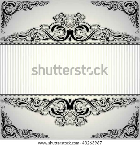 Background retro frame label design