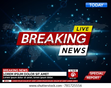 Breaking news background on world map download free vector art background screen saver on breaking news breaking news live on world map background vector gumiabroncs Images