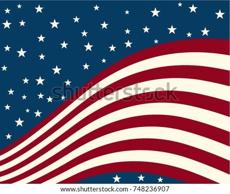 background stylized flag united states vector