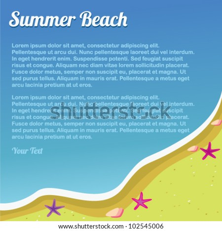 background summer beach for design