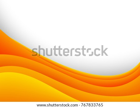 Background template with orange curves illustration